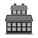 Private residential cottage house flat icon Stock Images