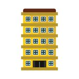 Private residential cottage house flat icon Royalty Free Stock Photo