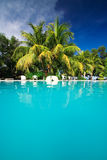 Private resort pool Royalty Free Stock Images