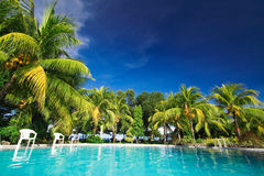 Private resort pool Royalty Free Stock Image