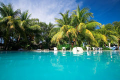 Private resort pool Royalty Free Stock Photography