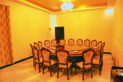 Private room in a resplendent restaurant Stock Images
