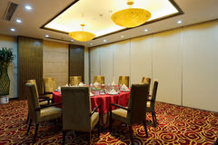 Private room of restaurant royalty free stock images
