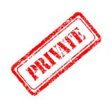 Private rubber stamp. On white background Royalty Free Stock Photos