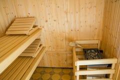 Private Sauna. View into a private sauna Stock Images