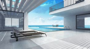 Summer house residence with pool Stock Image