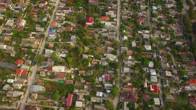 Private Sector With Houses In City District stock video footage