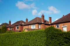 Private sector. Of houses on the uptown of Belfast Royalty Free Stock Photos