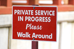 Private service in progress Stock Photography