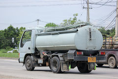 Private of Sewage truck. CHIANGMAI, THAILAND -AUGUST 20 2015:  Private of Sewage truck. Photo at road no.121 about 8 km from downtown Chiangmai, thailand Royalty Free Stock Images