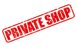 Private shop red stamp text Stock Images