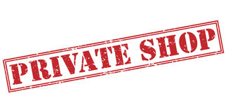 Private shop red stamp. On white background Stock Photo