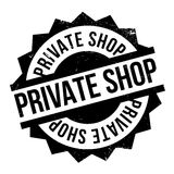 Private Shop rubber stamp Stock Photo