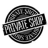 Private Shop rubber stamp Stock Images