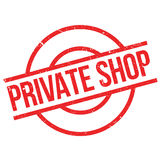 Private Shop rubber stamp Royalty Free Stock Photo