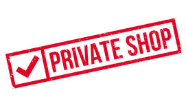 Private Shop rubber stamp Stock Image