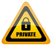 Private sign stock illustration