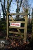 Private sign. Royalty Free Stock Photos