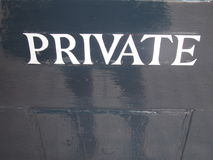 Private Sign Stock Photos