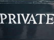 Private Sign Royalty Free Stock Images