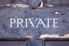 Private sign Royalty Free Stock Photography