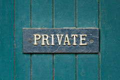 Private sign Stock Images
