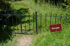 Private sign. Stock Photography