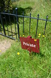 Private sign. Royalty Free Stock Photo
