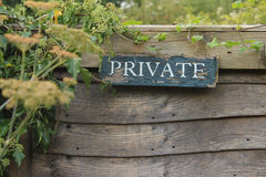 Private Sign Royalty Free Stock Photos