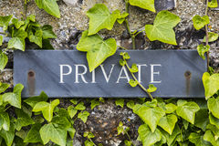 Private Sign Royalty Free Stock Photo