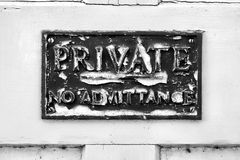 Private sign Stock Photography