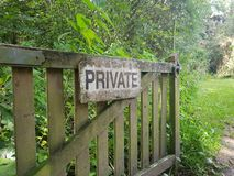 Private sign. stock images
