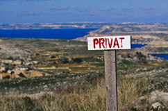 Private sign Stock Image