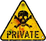 Private sign, warning Stock Image