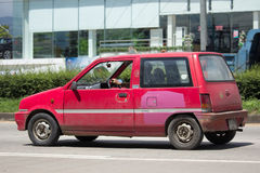 Private Small city car, Daihatsu Mira. Royalty Free Stock Photo