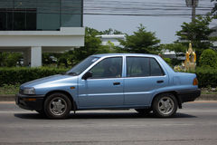 Private Small city car, Daihatsu Mira. Stock Photography
