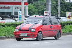 : Private Small city car, Daihatsu Mira. Stock Images