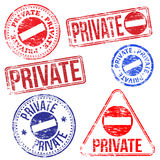 Private Stamps Royalty Free Stock Image