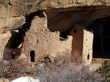 Private Suite. Anasazi Cliff Dwelling in Mesa Verde National Park in Winter royalty free stock image