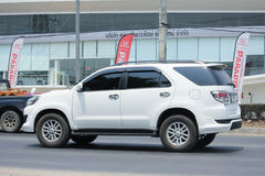 Private suv car, Toyota Fortuner. Royalty Free Stock Photos