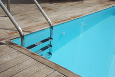 Private swimming pool. Clean and empty private swimming pool stock images