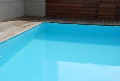 Private swimming pool. Empty and clean royalty free stock image