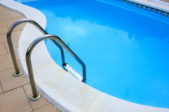 Private swimming pool in a house.  Royalty Free Stock Photos