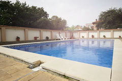 Private swimming pool Royalty Free Stock Images