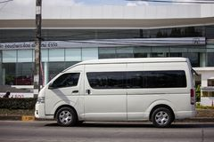 Private Toyota commuter van. Chiangmai, Thailand - January 3 2019: Private Toyota commuter van. Photo at road no.121 about 8 km from downtown Chiangmai thailand stock images