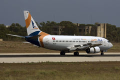 Private Turkish Airline 737 Stock Photography