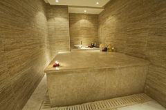 Private turkish massage room in health spa Royalty Free Stock Photo