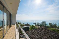 Private villa sea view luxury home Stock Photo