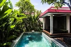 Private Villa Swimming Pool Royalty Free Stock Photography