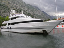 Private yacht stock image